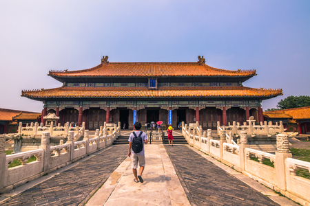 lejano oriente: Beijing, China - July 20, 2014: Palace of the Forbidden City Editorial
