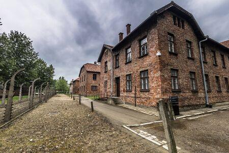 Auschwitz , Poland - May 14, 2016: Auschwitz One Concentration camp, Poland