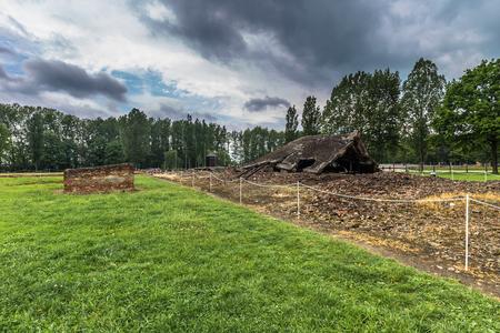 Auschwitz , Poland - May 14, 2016: Auschwitz Birkenau Concentration camp, Poland