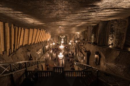 Wieliczka , Poland - May 14, 2016: Cathedral of Wieliczka Salt mines, Poland Editorial