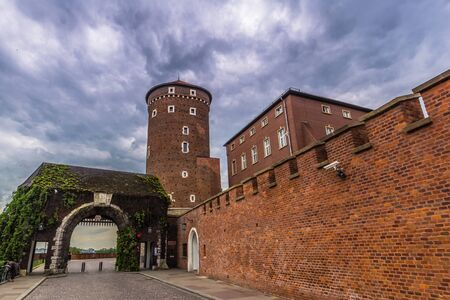 Krakow, Poland - May 12, 2016: Wawel fortress in the old town of Krakow, Poland Editorial