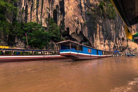 September 21, 2014: Entrance to the Pak Ou caves, Laos
