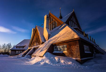 Lapland, Sweden - January 29, 2014: The Church of Kiruna, Sweden Stock Photo