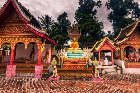 conservative: September 21, 2014: Temples in Ban Xang Hai, Laos