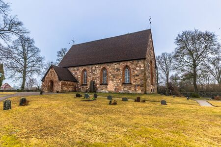 Hatuna, Sweden - April 1, 2017: Church of Hatuna, Sweden