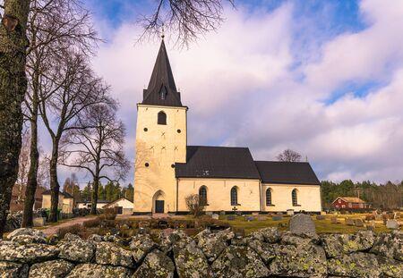 Sweden - April 1, 2017: Lone church in rural Sweden