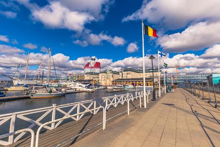 Gothenburg, Sweden - April 14, 2017: Port of Gothenburg, Sweden