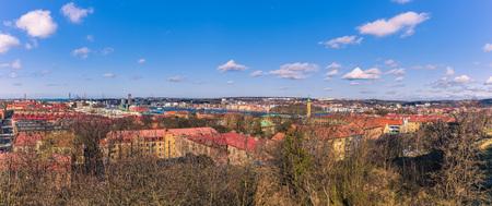 イェーテボリ, スウェーデン - 2017 年 4 月 14 日: ヨーテボリ、スウェーデンの旧市街全景