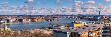 イェーテボリ, スウェーデン - 2017 年 4 月 14 日: スウェーデン、ヨーテボリ港全景 報道画像