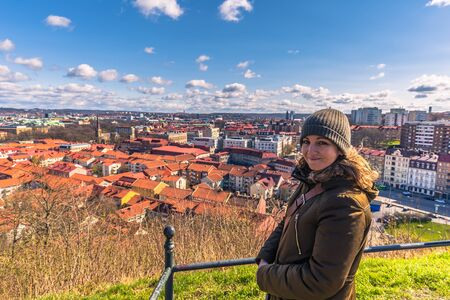 Gothenburg, Sweden - April 14, 2017: Panorama of the old town of Gothenburg, Sweden