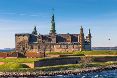 european: Helsingor, Denmark - May 01, 2017: Kronborg castle in Helsingor