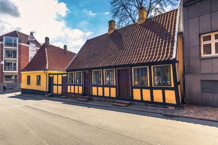 Odense, Denmark - April 29, 2017: Childhood home of Hans Christian Andersen