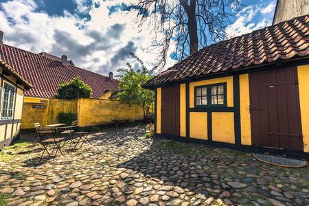 museum visit: Odense, Denmark - April 29, 2017: Childhood home of Hans Christian Andersen