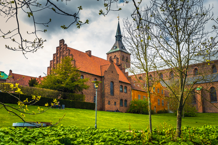 Odense, Denmark - April 29, 2017: Cathedral of Saint Canute Stock Photo