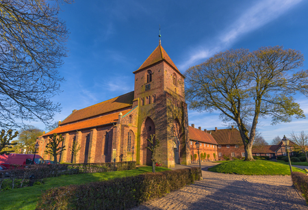 Ribe, Denmark - April 30, 2017: Church in the old Town of Ribe