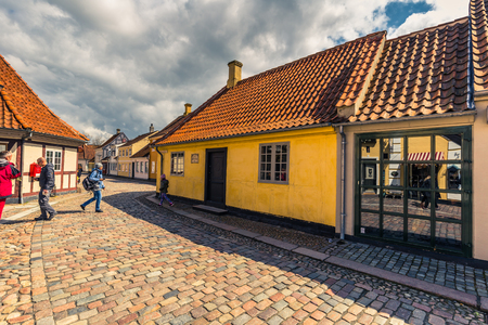 Odense, Denmark - April 29, 2017: Childhood home of Hans Christian Andersen