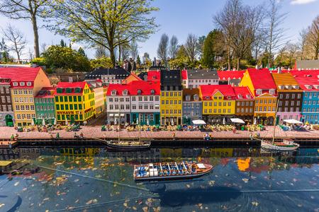 レゴランド、Bilund の Bilund, デンマーク - 2017 年 4 月 30 日: ミニチュア