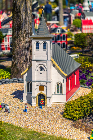 european: Bilund, Denmark - April 30, 2017: Miniatures in Legoland, Bilund