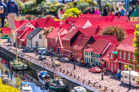 Bilund, Denmark - April 30, 2017: Miniatures in Legoland, Bilund