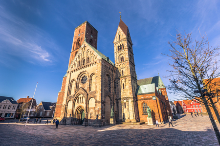 european: Ribe, Denmark - April 30, 2017: Cathedral of Ribe