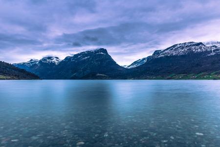 Vang, Norway - May 13, 2017: Mountain landscape of Vang, Norway Editorial