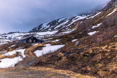Wilderness of Norway - May 14, 2017: Countryside of the region of Valdres, Norway