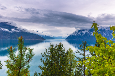 Norway - May 14, 2017: Panorama of Sogn og Fjordane, Norway