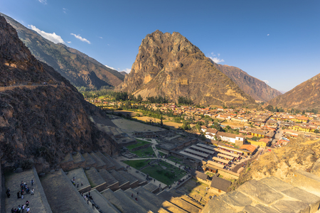 Ancient site of Ollantaytambo in the Sacred Valley, Peru