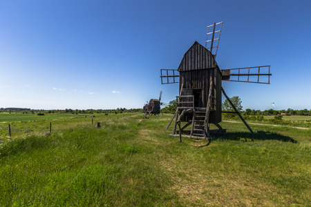 Windmill by the grass, Öland, Sweden
