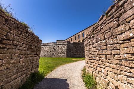 Öland, Sweden - June 05, 2016: Walls of Borgholm, Öland, Sweden Editorial