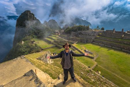 Machu Picchu, Peru - August 03, 2017: Ancient City of Machu Picchu, Wonder of The World, Peru Editorial