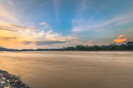 Madre de Dios river in the Amazon rainforest of Manu National Park, Peru