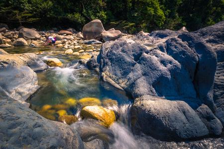 Manu National Park, Peru - August 11, 2017: Landscape of the Amazon rainforest of Manu National Park, Peru Stock Photo