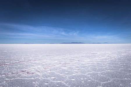 Landscape of the Uyuni Salt Flats, Bolivia Stock Photo