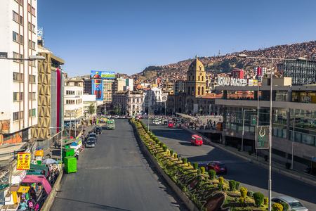La Paz - July 24, 2017: Church of San Francis in La Paz, Bolivia