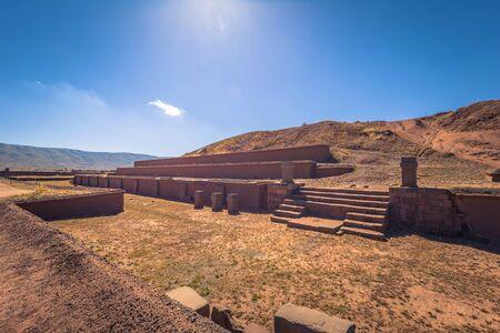 Ruins of the ancient city of Tiwanaku, Bolivia