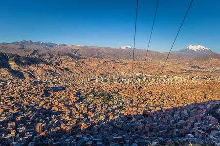 La Paz - July 26, 2017: Panoramic view of La Paz, Bolivia