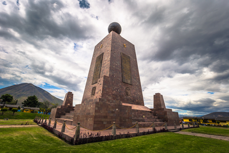 Mitad del Mondo - August 21, 2018: Middle of the World monument in Mitad del Mondo, Ecuador Editorial