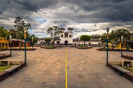 Mitad del Mondo - August 21, 2018: Middle of the World monument park in Mitad del Mondo, Ecuador Editorial