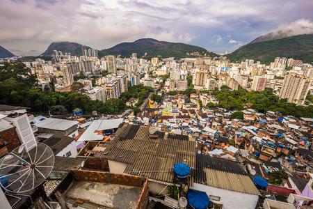 Rio de Janeiro - June 21, 2017: Rooftops of the Favela of Santa Marta in Rio de Janeiro, Brazil