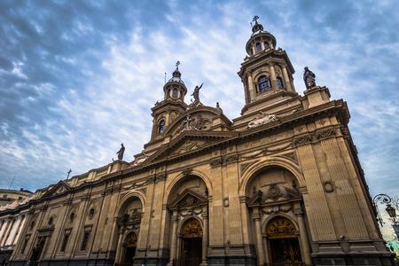 Santiago Municipal Church in the historic center of Santiago of Chile 版權商用圖片