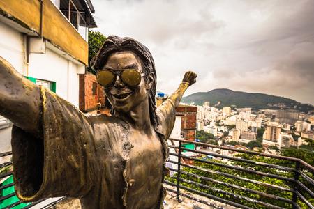 Rio de Janeiro - June 21, 2017: Michael Jackson statue in the favela of Santa Marta in Rio de Janeiro, Brazil