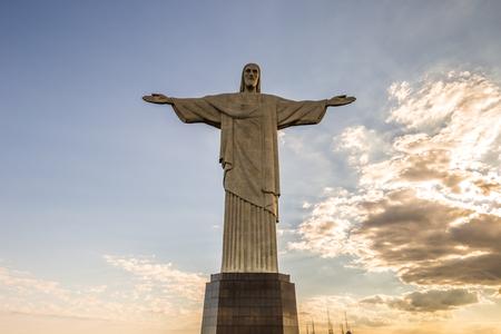 Rio de Janeiro - 19 juin 2017: Christ Rédempteur dans la montagne du Corcovado à Rio de Janeiro, Brésil