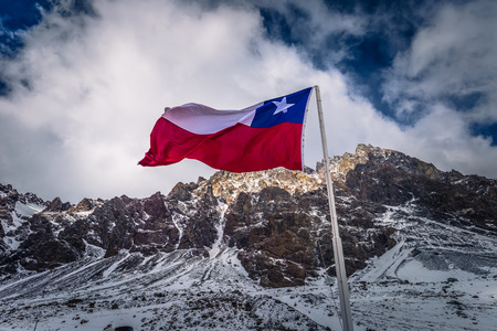 Chilean Flag in the border between Argentina and Chile