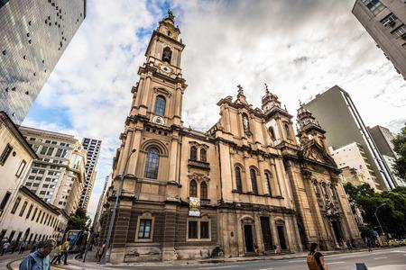 Rio de Janeiro - June 21, 2017: Colonial Church in Rio de Janeiro, Brazil Editorial
