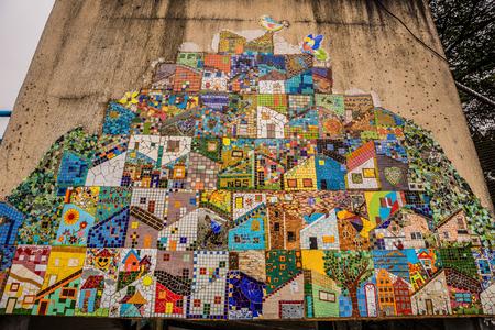 Rio de Janeiro - June 21, 2017: Street art in the Favela of Santa Marta in Rio de Janeiro, Brazil Editorial