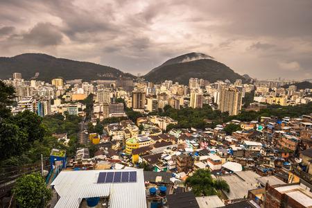Rio de Janeiro - June 21, 2017: Panorama of the Favela of Santa Marta in Rio de Janeiro, Brazil