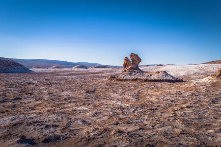 Atacama Desert, Chile - Dinosaur head statue in the Valley of the Moon in the Atacama Desert, Chile