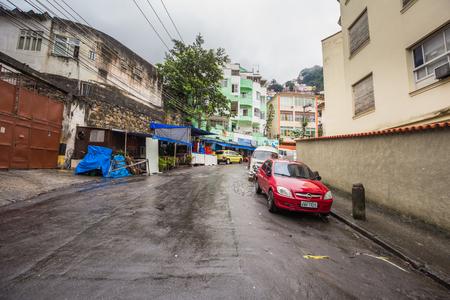 Rio de Janeiro - June 21, 2017: Entrance to the Favela of Santa Marta in Rio de Janeiro, Brazil Editorial