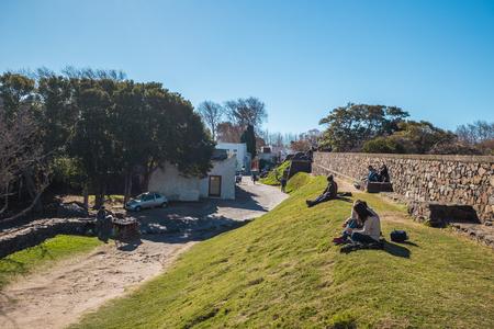 Colonia Del Sacramento - July 02, 2017: Old ruins of Colonia Del Sacramento, Uruguay Editorial